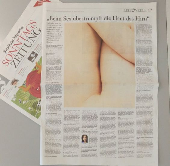 FAZ | Beim Sex übertrumpft die Haut das Hirn | 08.2016