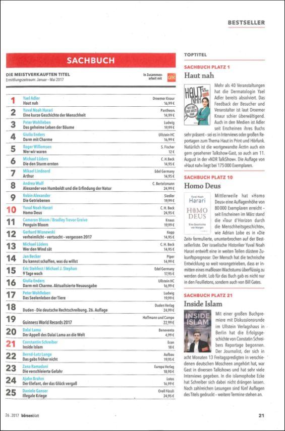 Börsenblatt 26.2017 | Bestseller Sachbücher
