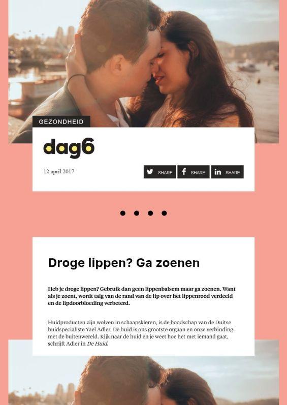 dag6.nl: Droge lippen? Ga zoenen | 12.04.2017