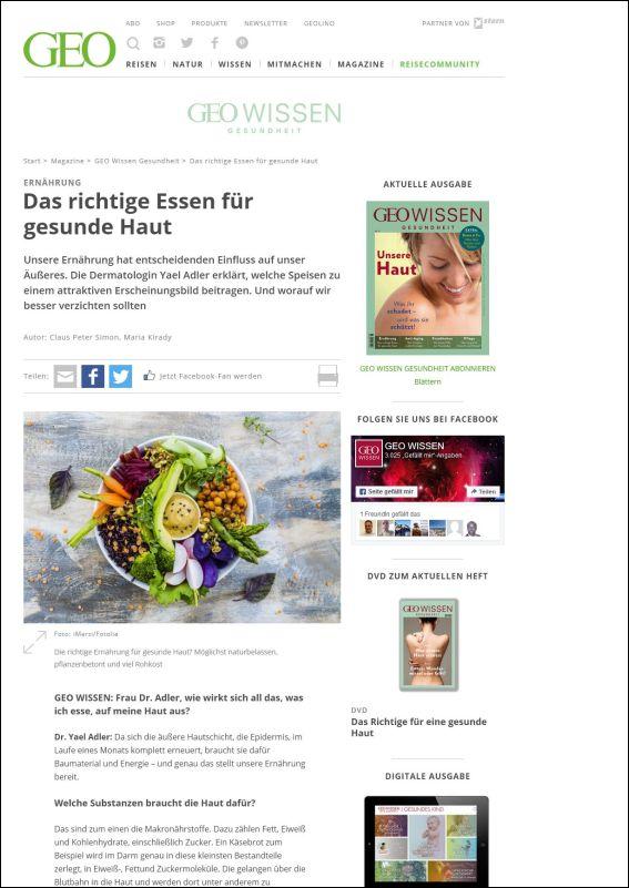 geo.de | Das richtige Essen für gesunde Haut | 11.2017