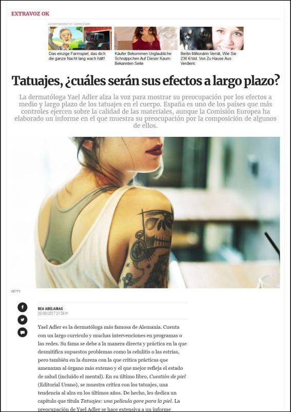 lavozdegalicia.es | Tatuajes, ¿cuáles serán sus efectos a largo plazo?a | 20.08.2017