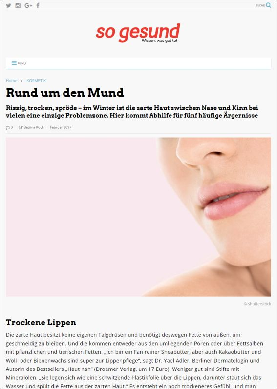 so-gesund.com | Rund um den Mund | 02.2017