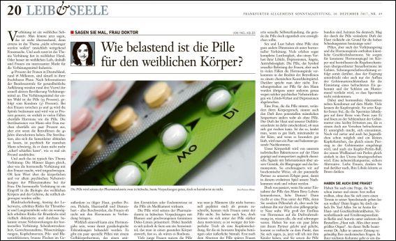 Wie belastend ist die Pille für den weiblichen Körper? (PDF)