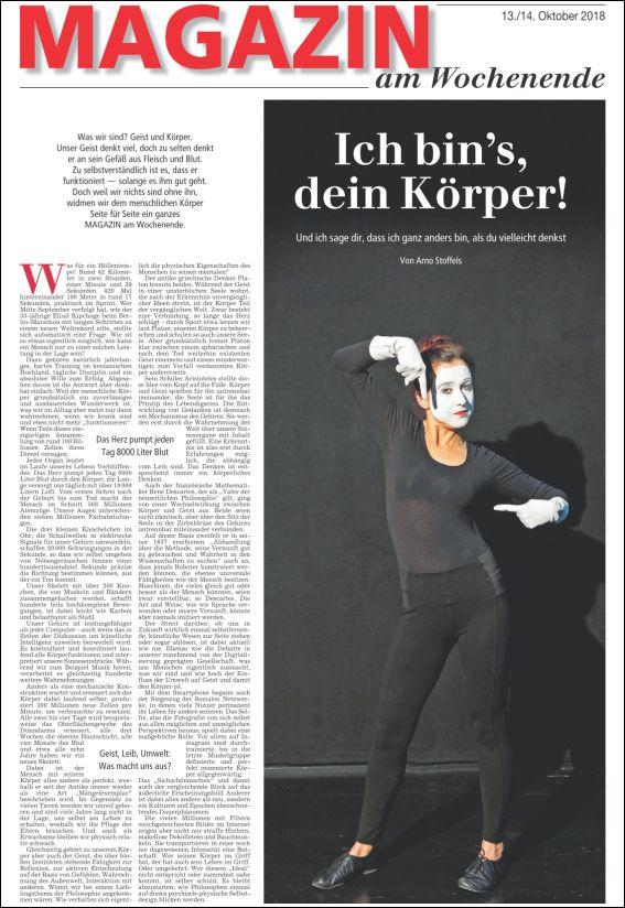 Magazin am Wochenende Nürnberger Nachrichten/Nürnberger Zeitung | Ich bins, Dein Körper (PDF)