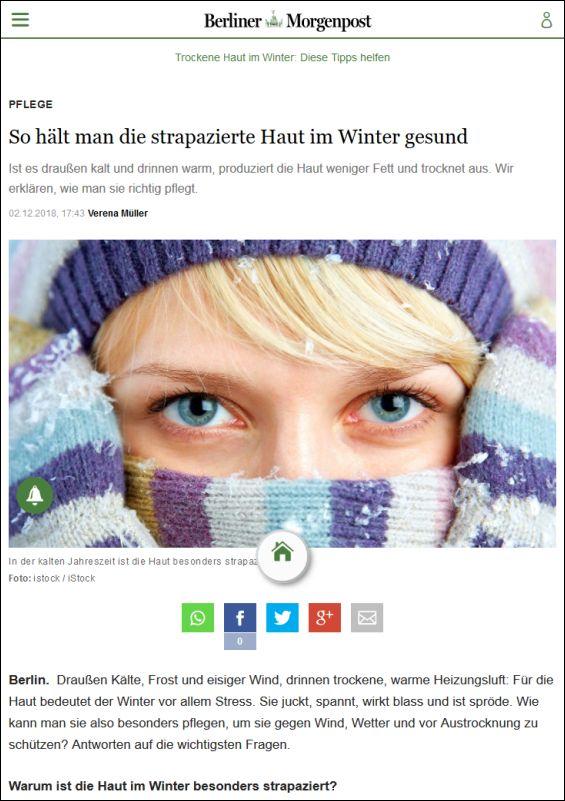 So hält man die strapazierte Haut im Winter gesund