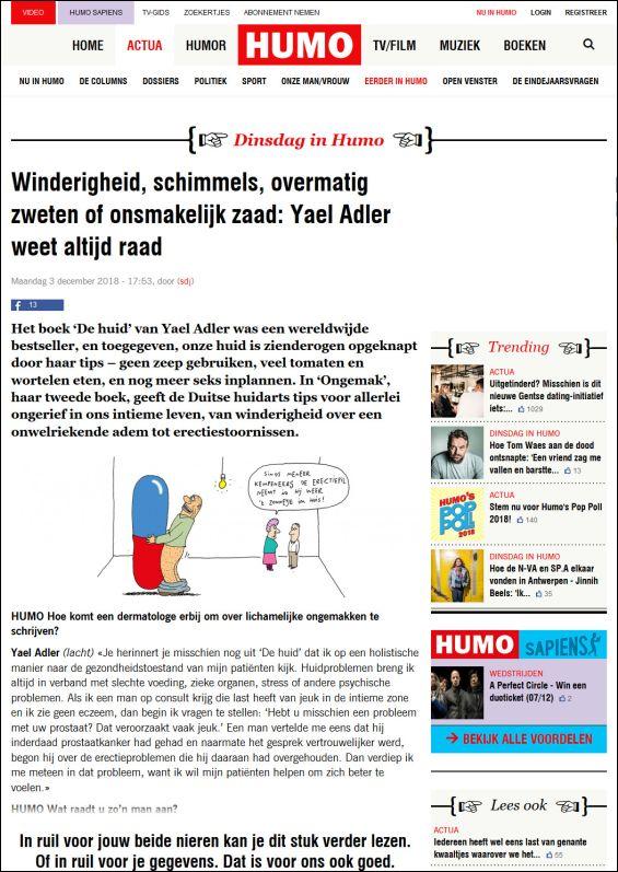 Winderigheid, schimmels, overmatig zweten of onsmakelijk zaad: Yael Adler weet altijd raad