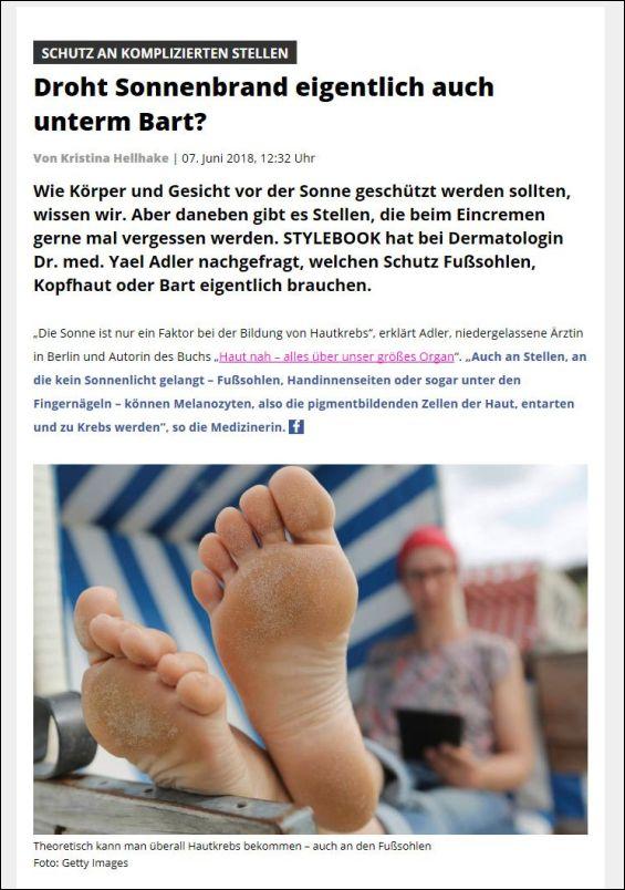 stylebook.de | Droht Sonnenbrand eigentlich auch unterm Bart? | 07.06.2018