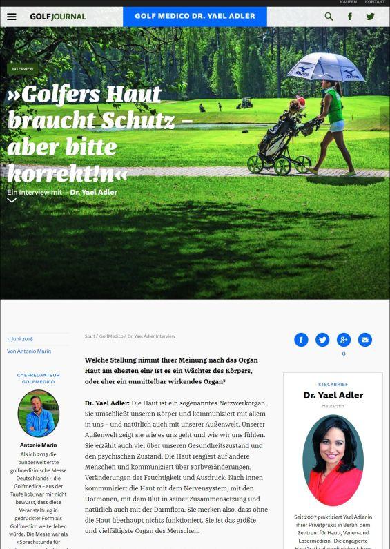 golfjournal.de | Golfers Haut braucht Schutz – aber bitte korrekt!n | 01.06.2018