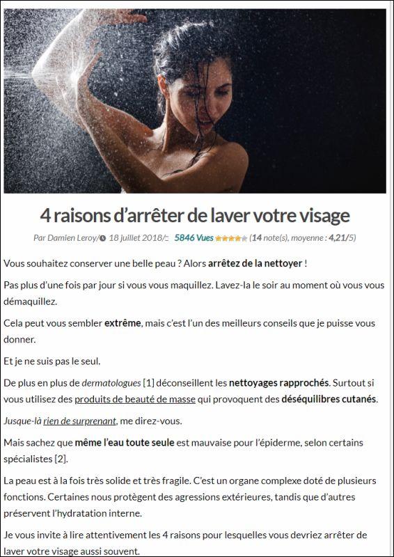 lettre-beaute-au-naturel.com | 4 raisons d'arrêter de laver votre visage | 18.07.2018