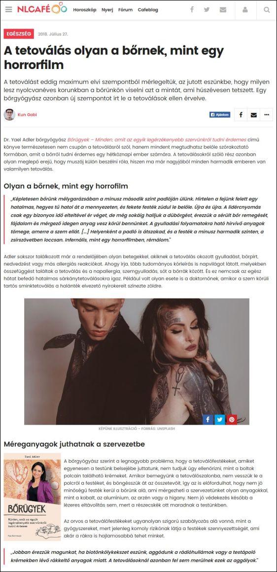 nlcafe.hu | A tetoválás olyan a bornek, mint egy horrorfilm | 27.07.2018