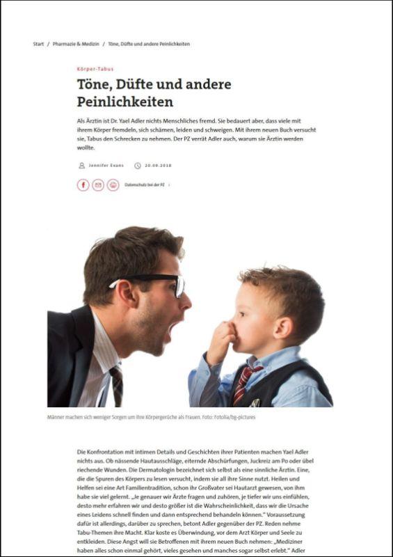pharmazeutische-zeitung.de | Töne, Düfte und andere Peinlichkeiten | 20.09.2018