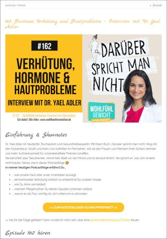 Hormone, Verhütung und Hautprobleme – Interview mit Dr. Yael Adler