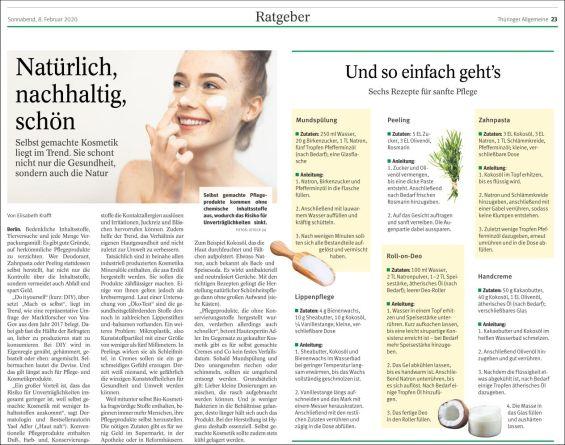 Selbst gemachte Kosmetik: Natürlich, nachhaltig, schön