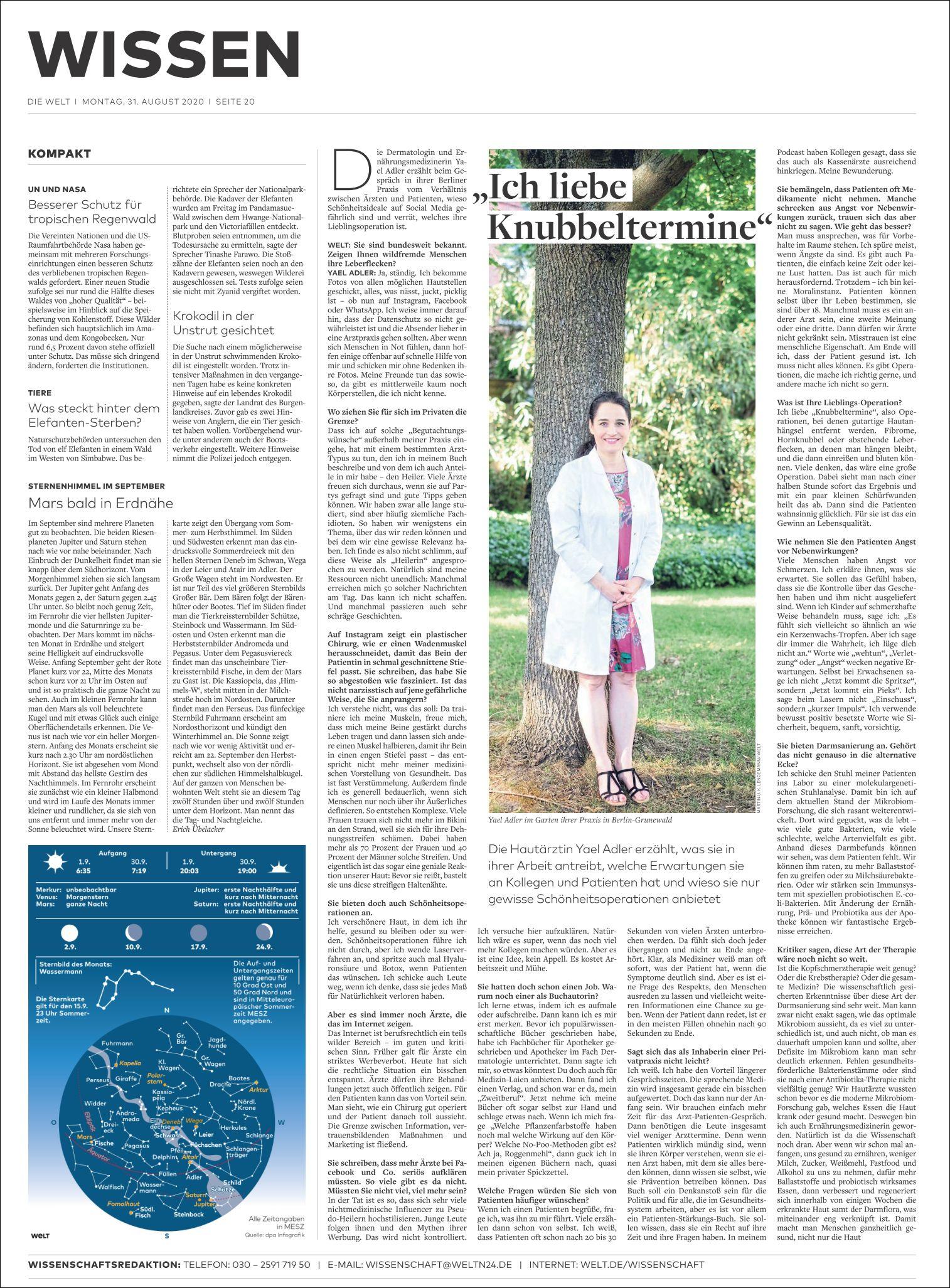 Dr. Yael Adler: Gespräch   Ich liebe Knubbeltermine
