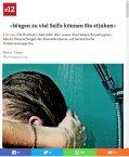 SonntagsZeitung Schweiz 09.2016: Wegen zu viel Seife können Sie stinken