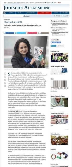 Hautnah erzählt: Yael Adler stellte bei der WIZO ihren Bestseller vor