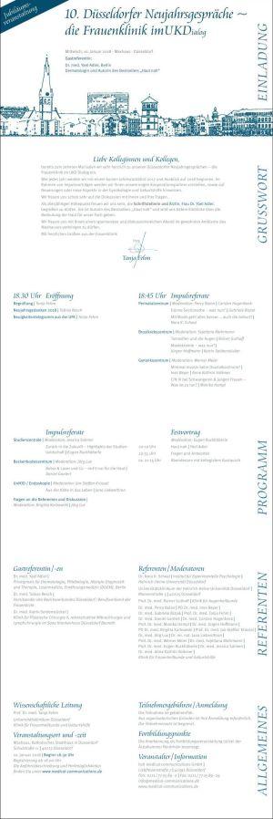 Gastreferentin 10. Düsseldorfer Neujahrsgespräche | die Frauenklinik im UKDialog | 10.01.2018