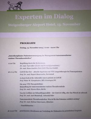 Moderation einer Veranstaltung im Steigenberger Airport Hotel/Frankfurt am Main 13.11.2015